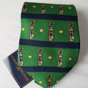 NWT Tommy Hilfiger green tie golf clubs print